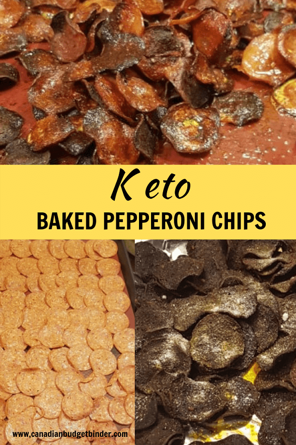 BAKED PEPPERONI CHIPS double baked