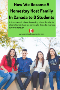 how we became a homestay host family for international students in Canada