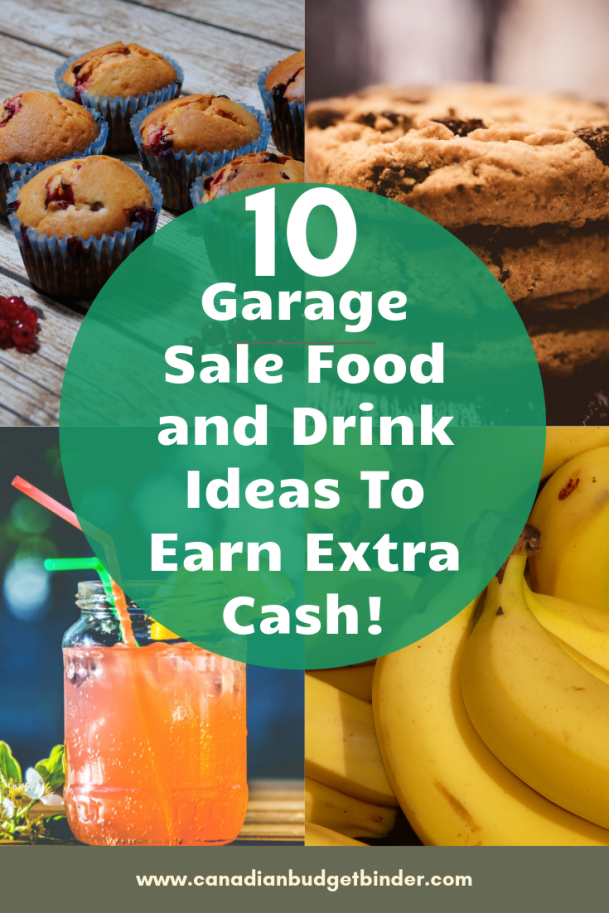 Garage Sale Food and Drink Ideas To Earn Extra Cash!