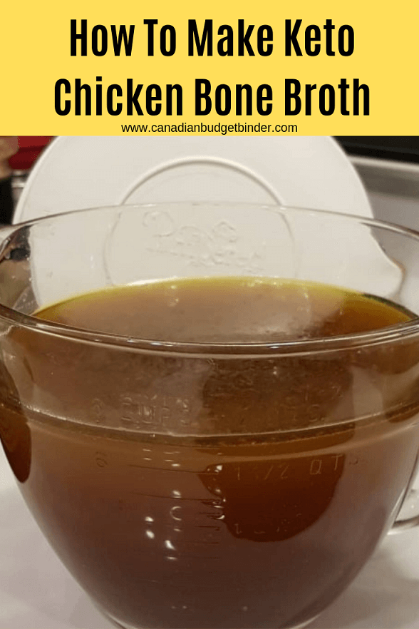 keto chicken bone broth soup