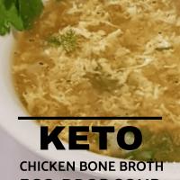 keto chicken bone broth egg drop soup 2