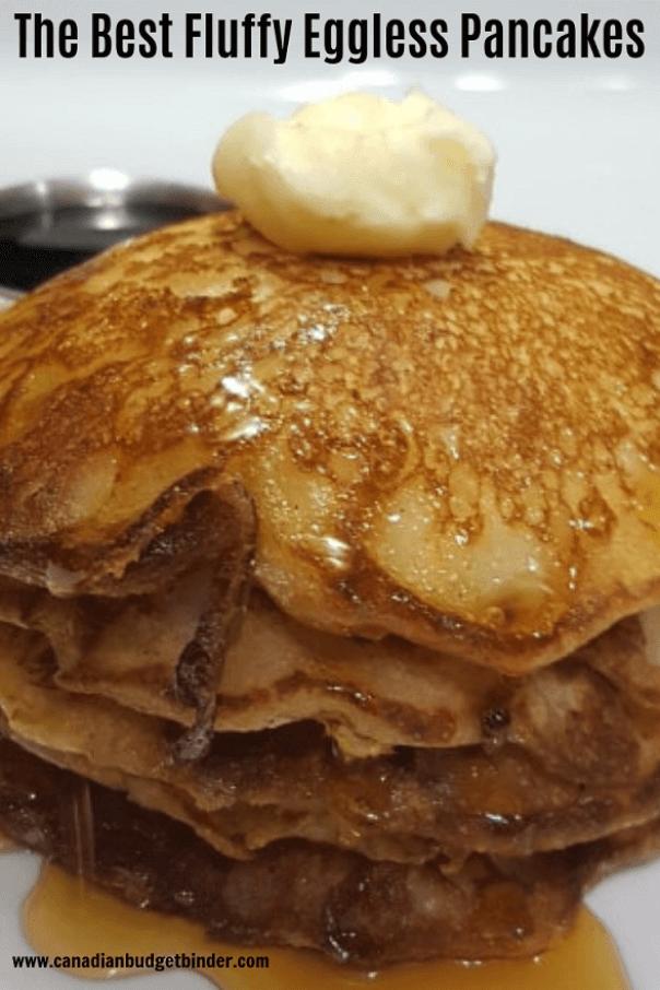 Canadian eggless pancake recipe