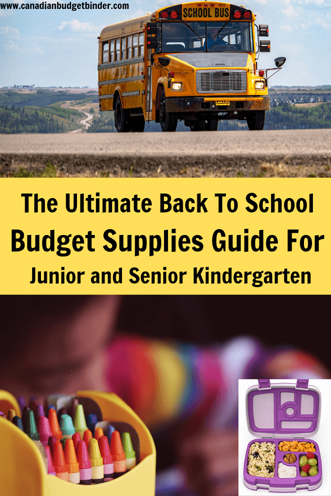 The Ultimate Back To School Supplies Guide For Junior and Senior Kindergarten