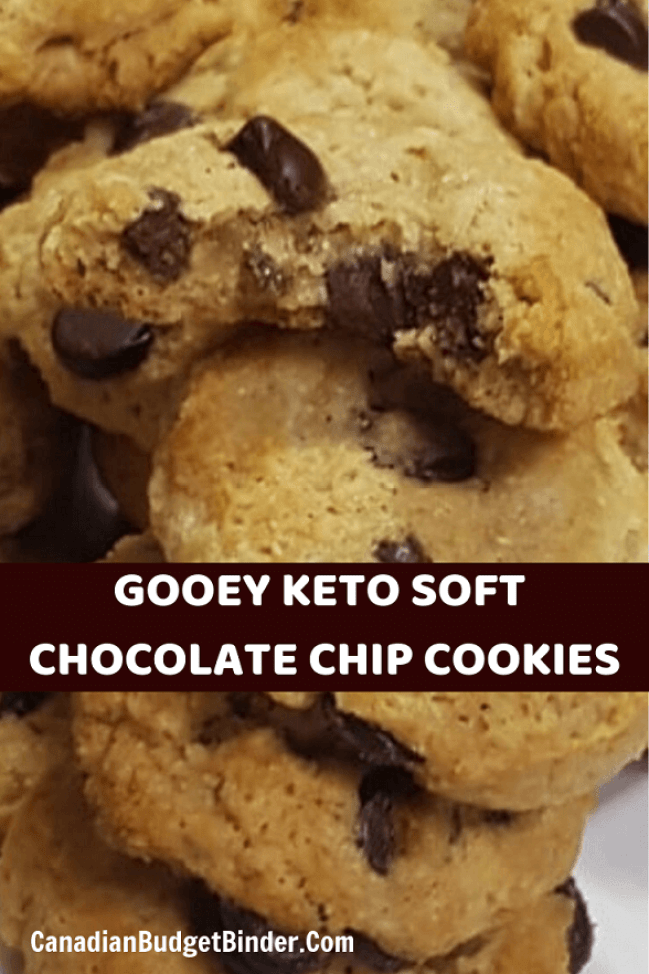 Gooey Keto Soft Chocolate Chip Cookies
