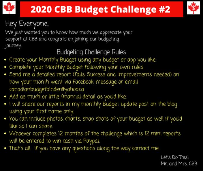 2020 Budget Challenge