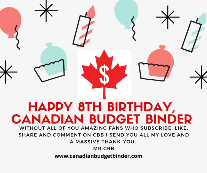 Happy 8th Birthday Canadian Budget Binder