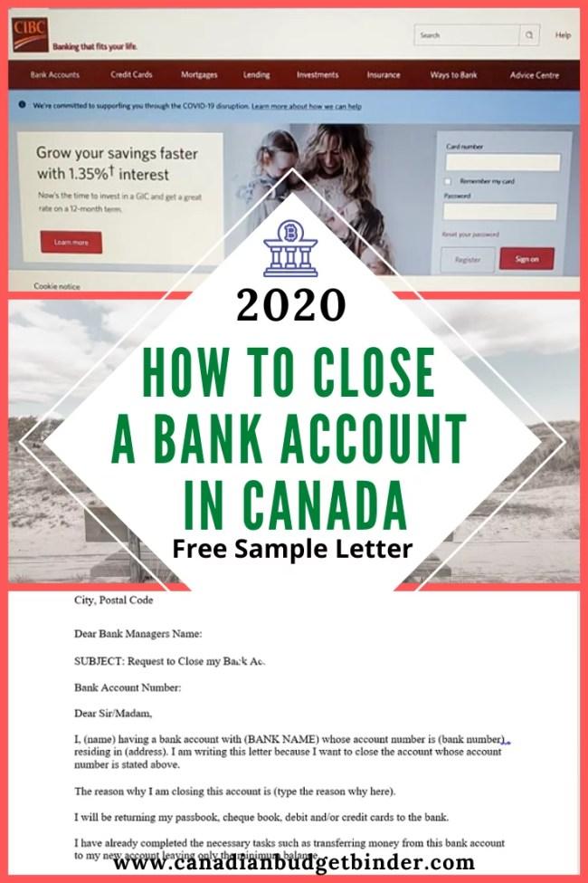 close bank account