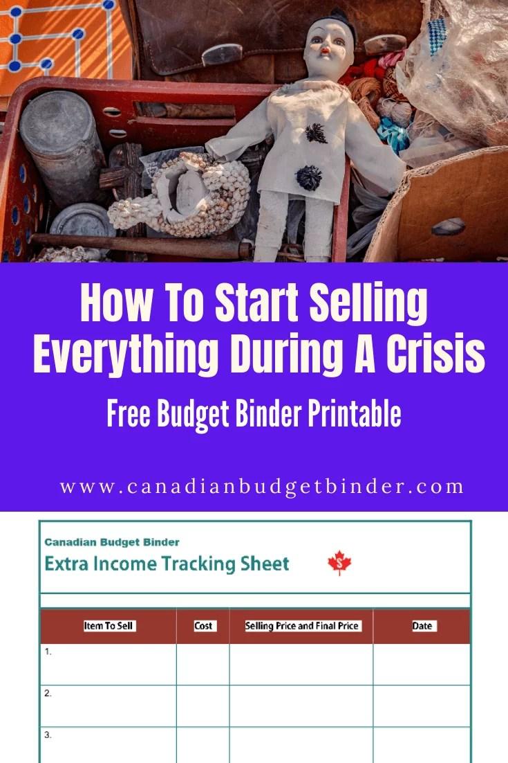 Como começar a vender tudo durante uma crise (impressão gratuita): Atualização do orçamento de maio de 2020 1