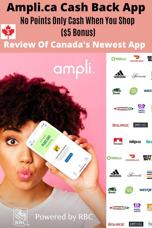 Revisão do aplicativo Ampli Cash Back para canadenses: sem pontos, apenas dinheiro (US $ 5 em bônus) 1
