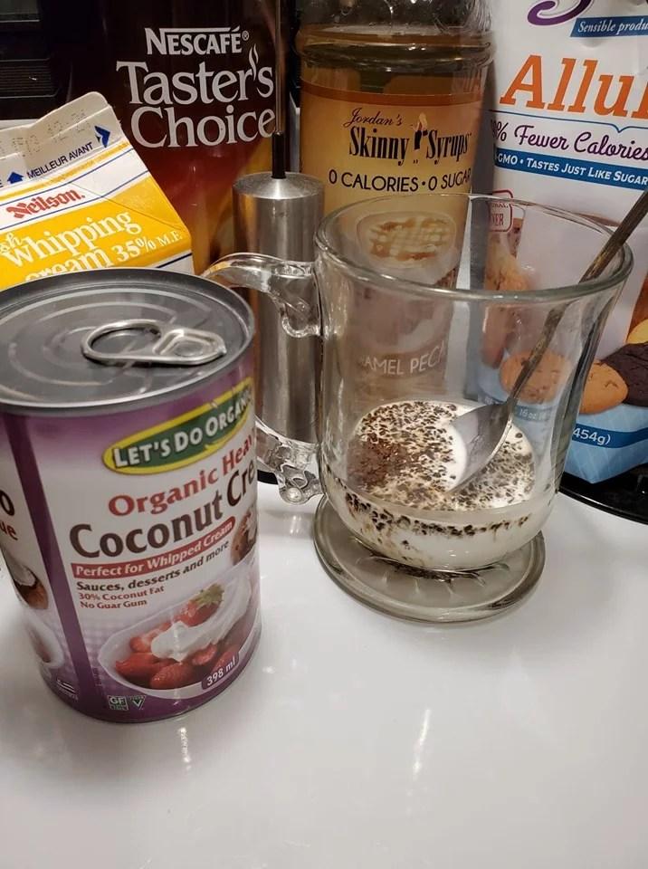 Iced Dalgona Coffee Keto