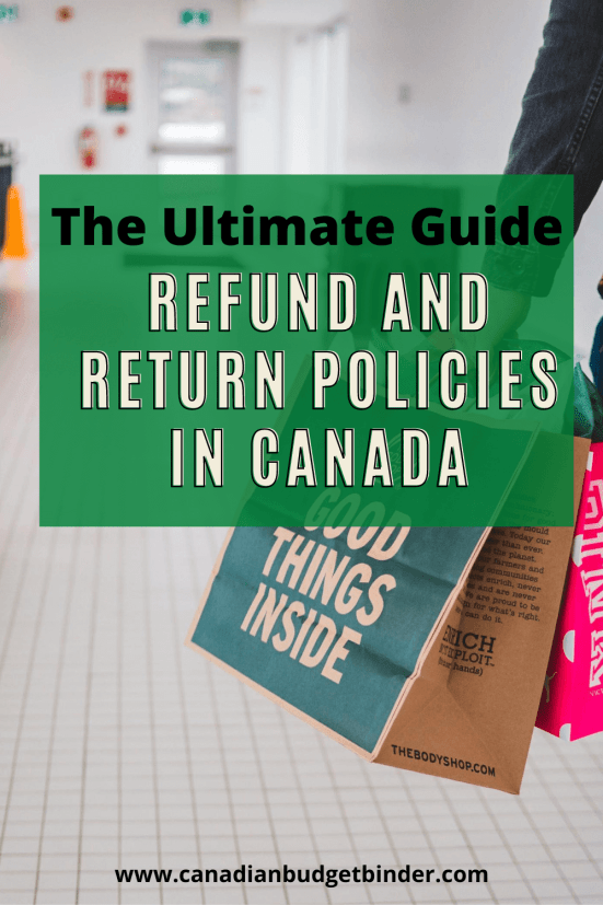refund policies Canada
