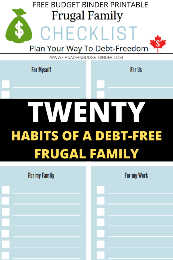 frugal living checklist