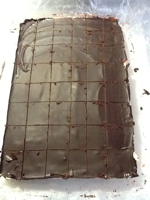 Cutting Nanaimo Bars