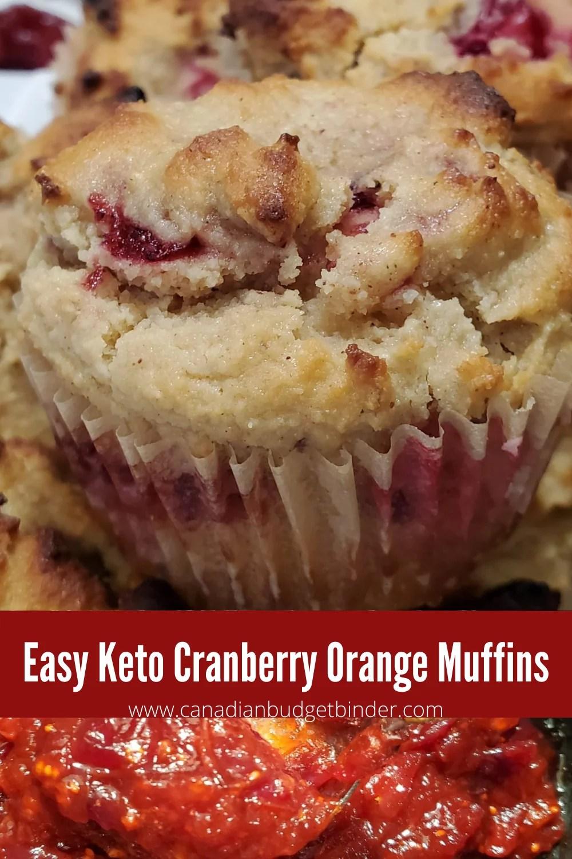 Keto Blender Muffins Cranberry