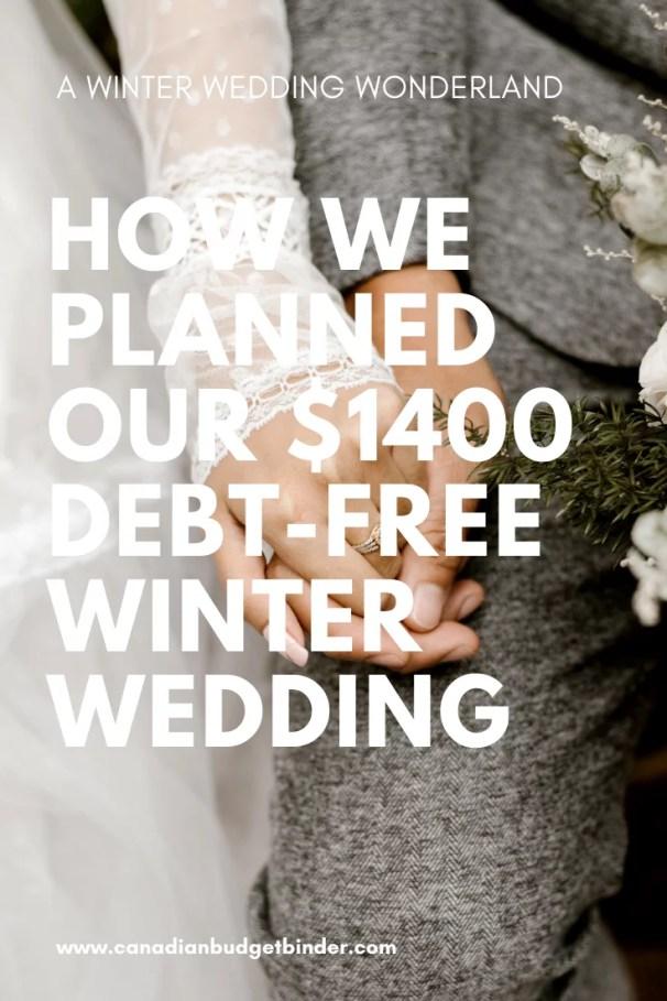debt-free wedding