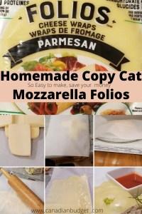 how to make mozarella folio