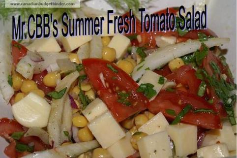 Mr.CBB's Summer Fresh Tomato Salad