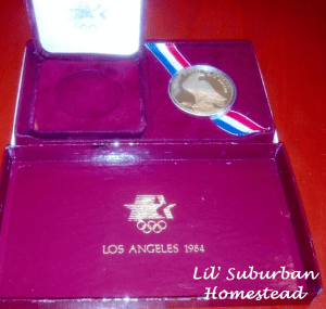 1984 olympic silver dollar or medal
