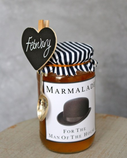 homemade marmalade Valentines Day for him