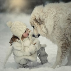 Alayah and her dog Cache, Sunnybrae, BC. Photo by Viktoria Haack Photography.