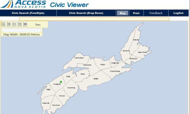 Access Nova Scotia Online Civic Map Viewer