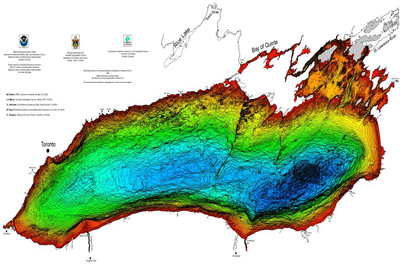 Bathymetry of Lake Ontario