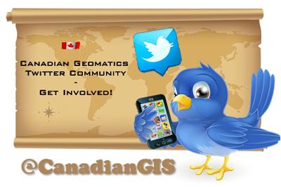 the Canadian Geomatics Twitter Community