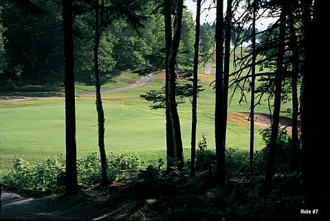 Trees Today, Gone Tomorrow: The seventh hole at Highlands Links taken from the side of the green in a promo photo.