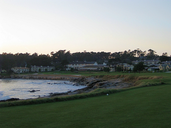 Home hole: The closer at Pebble Beach in the gloaming