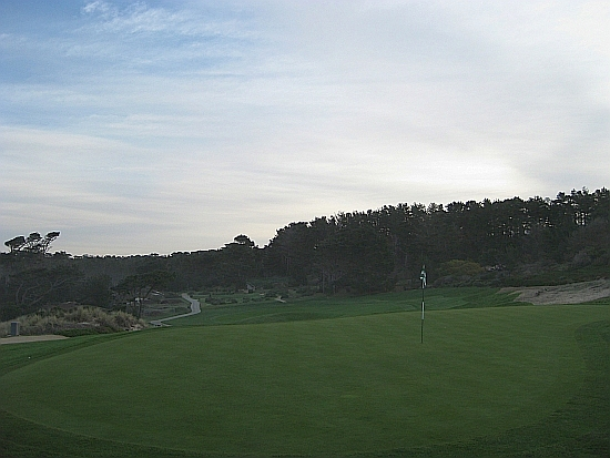 Looking backwards from the second green at Spyglass Hill
