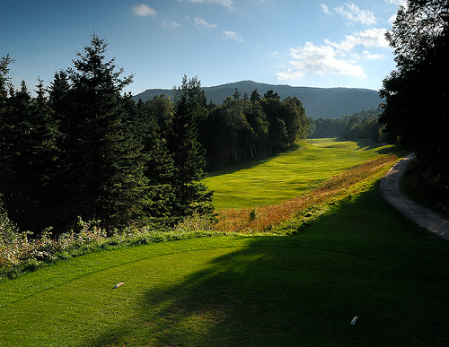 The fabled seventh hole at Highlands Links, one of the best three shot holes in the world.