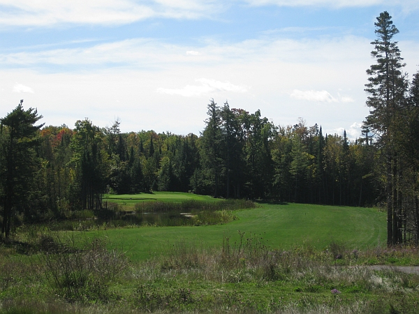 Pretty but vacuous: The sixth at Monck's Landing is beautiful, but is more inviting than interesting.