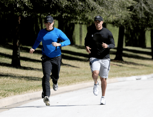 Tiger's Back?: A photo surfaced today of Tiger jogging, the first shot that is obviously him since November. Smell a public relations strategy here?