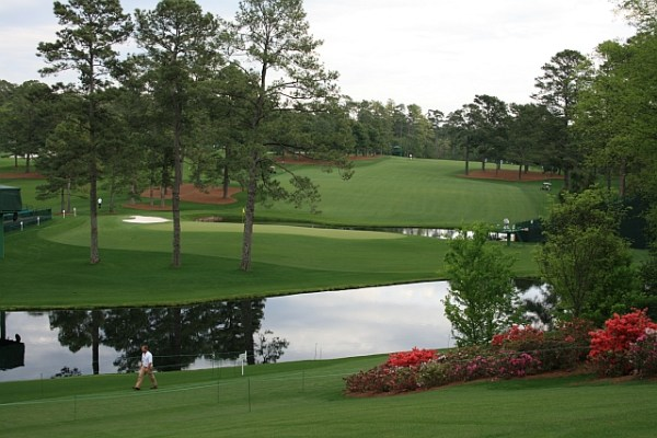 15th green at Augusta National GC