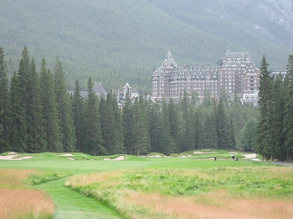 Banff's initial closing hole, now its 14th. The drama is still there, but the timing feels wrong.