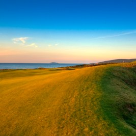 At the crest of the opening hole at Cabot Links