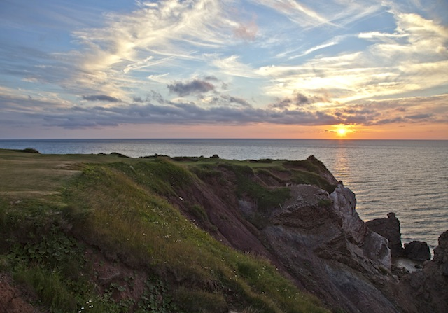 The 16th at Cabot Cliffs is one of the country's most visually stunning holes.