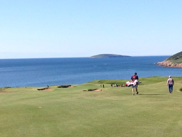 The 15th at Cabot Cliffs is one of the most dramatic par 5s anywhere.