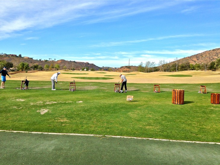 Superbly laid out practice range.