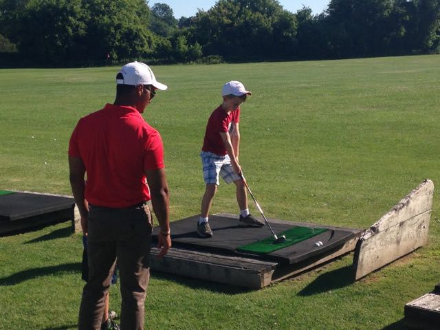 My son swings at a TGA camp last year in London.
