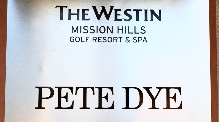 Pete Dye course at Mission Hills
