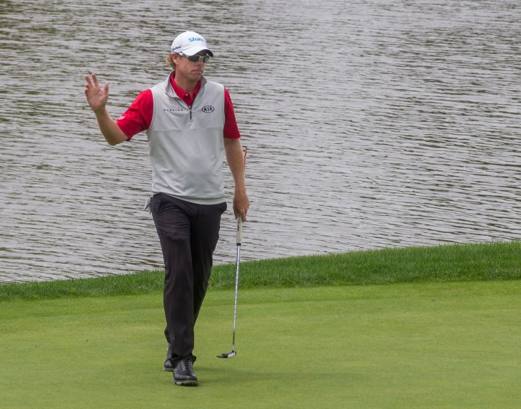 Hearn made a clutch bogey save on 6 but it still wasn't enough