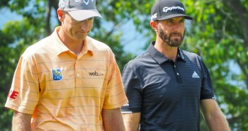 Dustin Johnson in full snarl mode