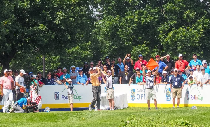 Furyk tees off at 'The Rink' #therink
