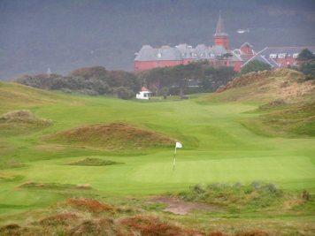 1st hole at Royal County Down