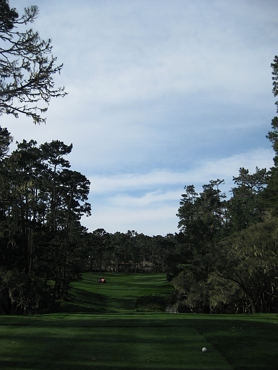 The difficult and intriguing 16th at Spyglass Hill.