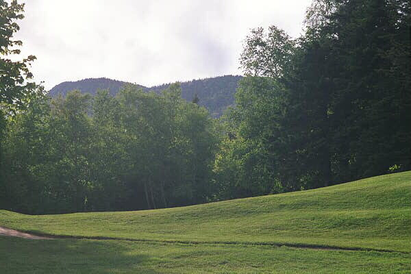 Highlands Links' Ninth Hole before tree removal (from Golfclubatlas.com)