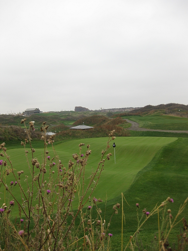 Biarritz: The green at 13th at Turnberry GC won't be easily forgotten.