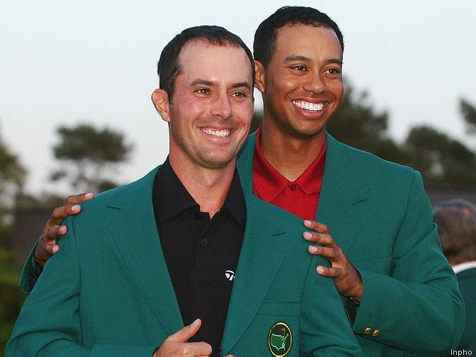 Tiger presented Weir with his only green jacket in 2003