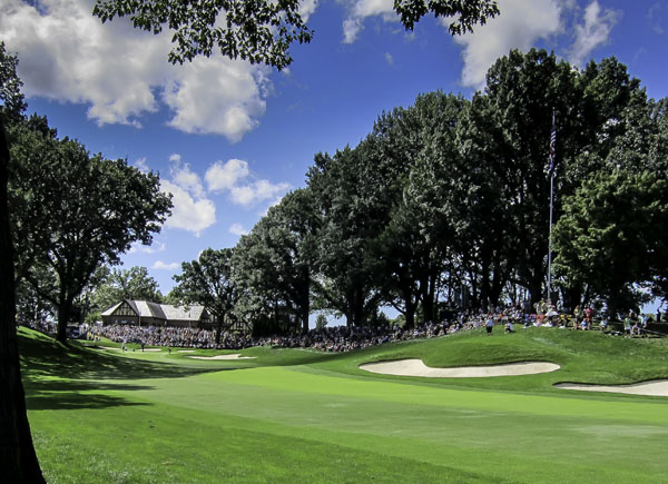 13th hole at Oak Hill created a stunning amphitheatre for the players and gallery